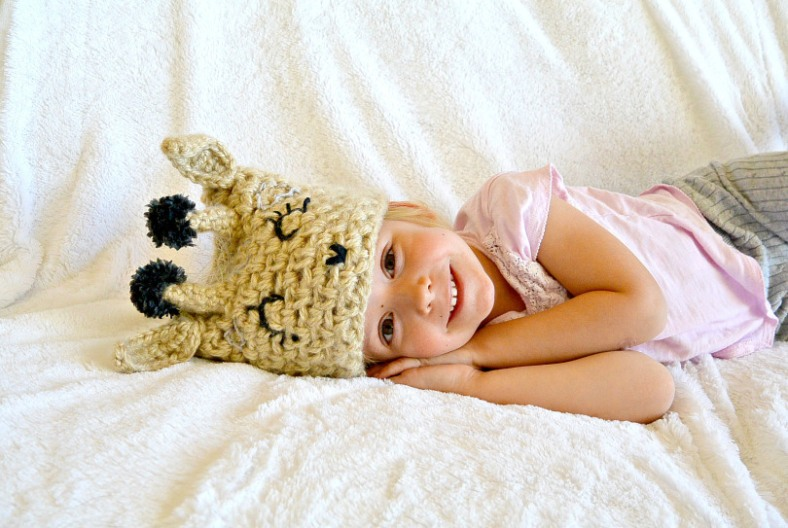 Easy-Crochet-Giraffe-Hat