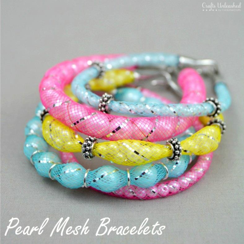 Pearl-DIY-mesh-bracelets-Crafts-Unleashed