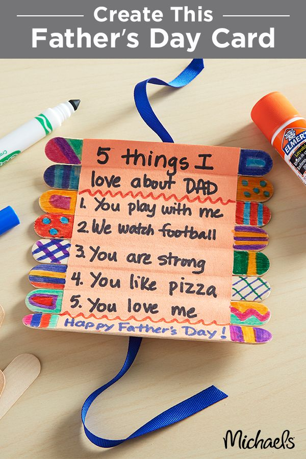 Father S Day Card To Make Do It Daily