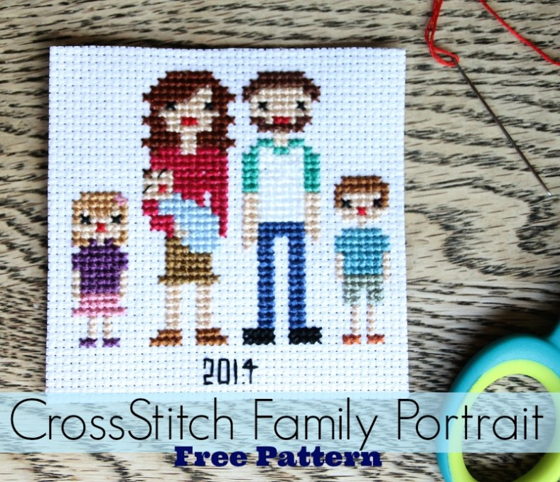 Family-Portrait-Cross-Stitch-Pattern