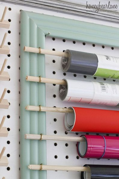 Craftroom Peg Board Vinyl Holder Do It Daily