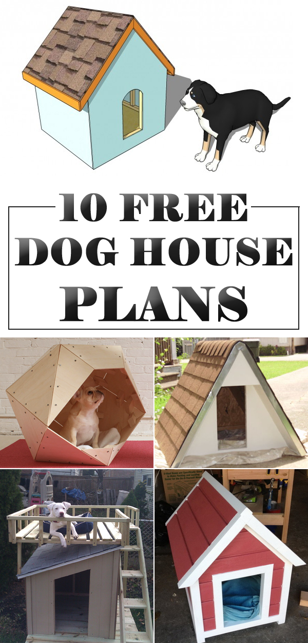 Dog house plans collection do it daily for Diy home floor plans