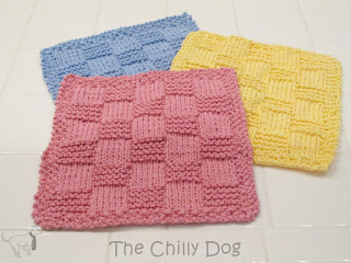 checkered-knit-washcloth-set