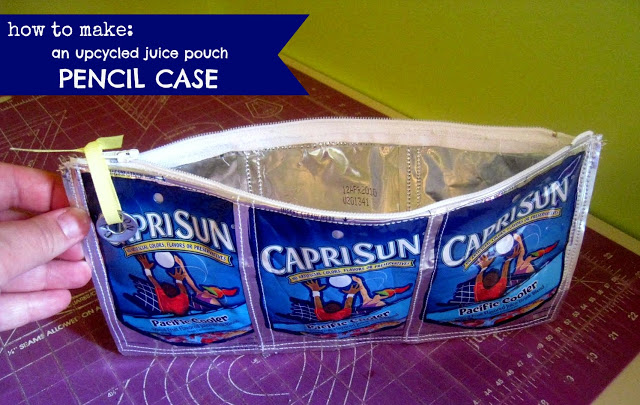 capri sun pencil pouch project tutorial diy how to make