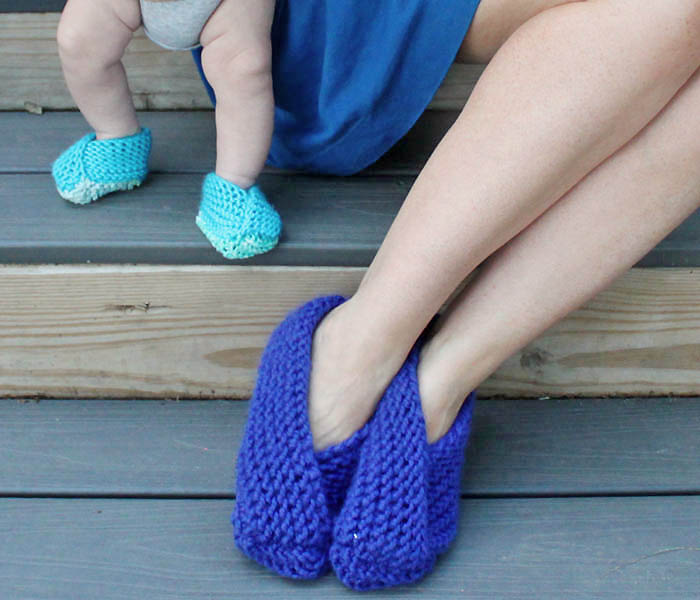Knitting On The Net Slippers : Fold over slippers to knit do it daily