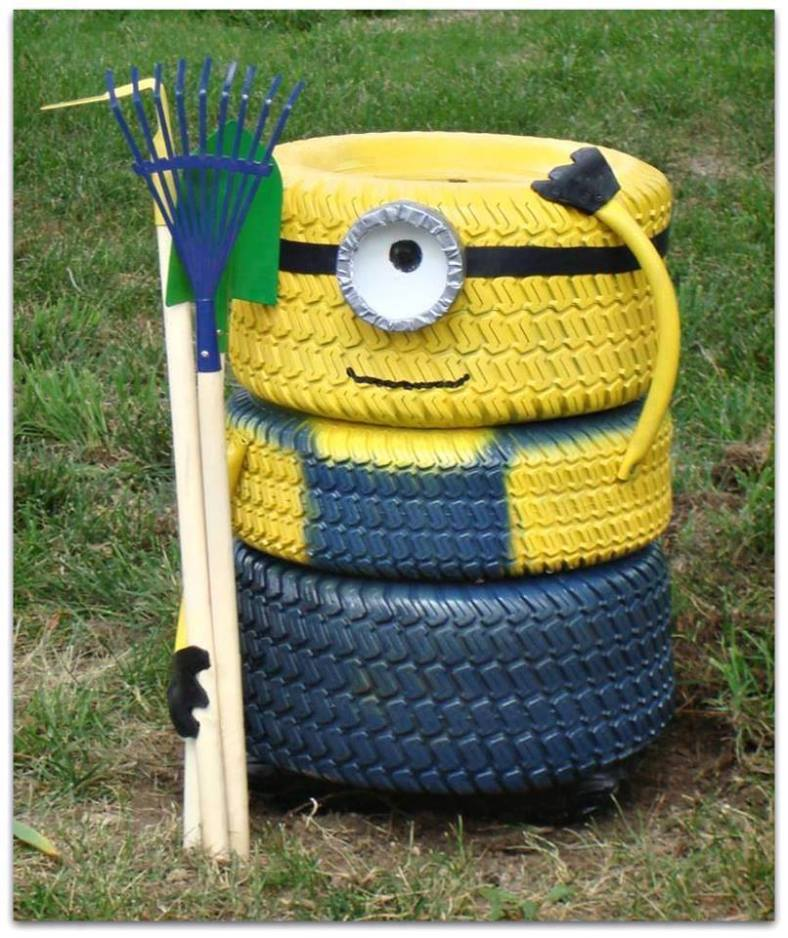 Minion-from-old-tires