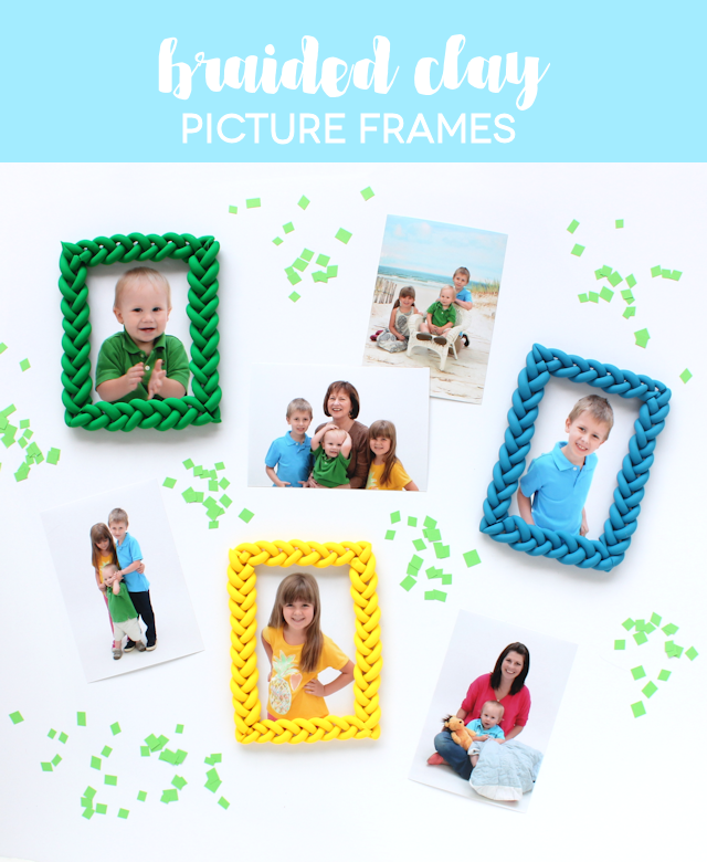 Braided Clay Picture Frames