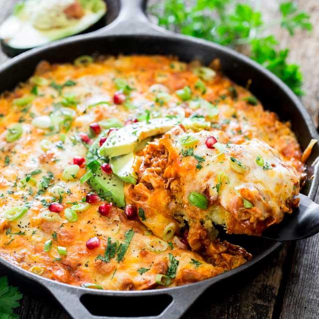 Chicken Tamales Recipe: Skillet Chicken Tamale Casserole