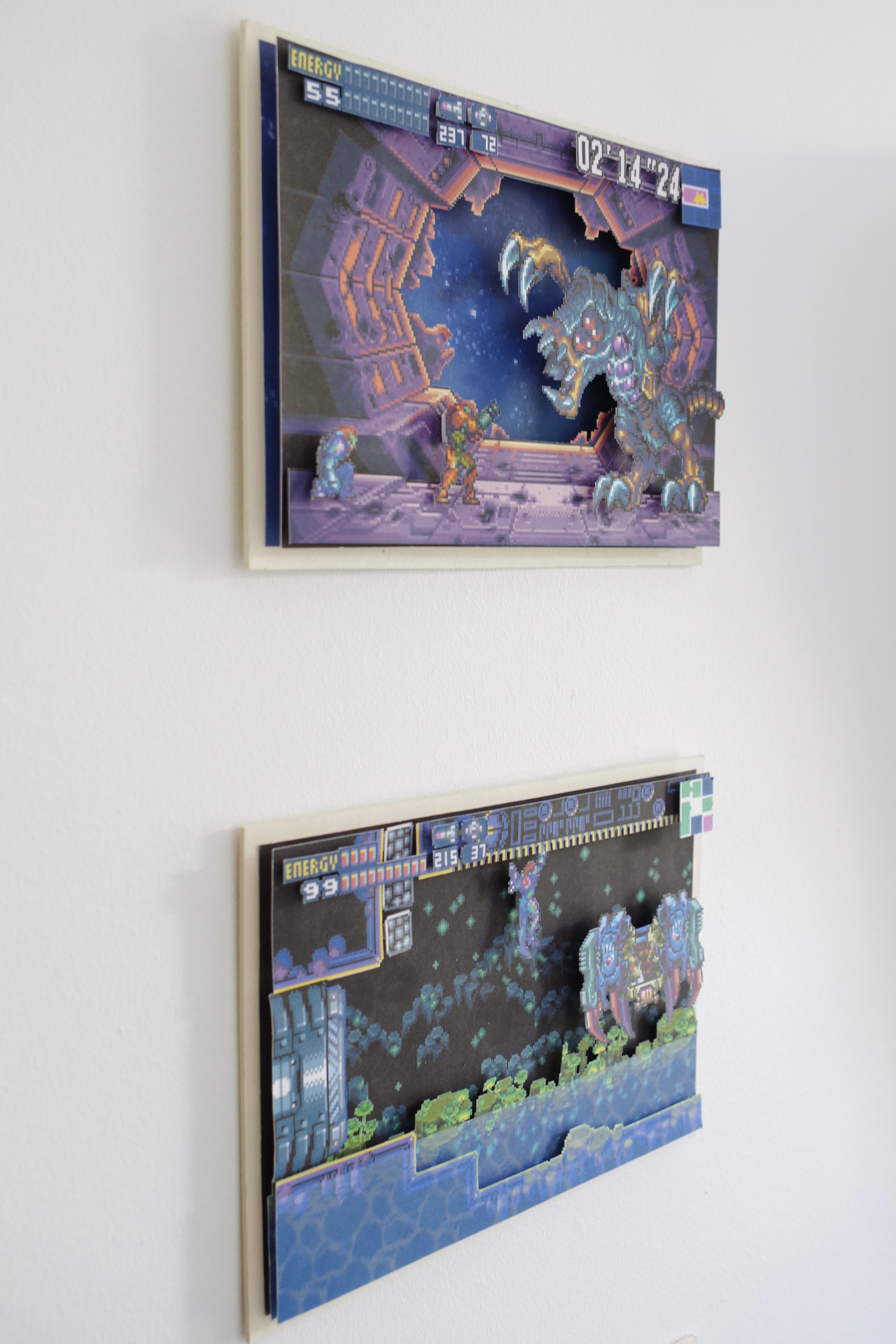 stunning Video Game Wall Art Part - 2: 3D Video Game Wall Art