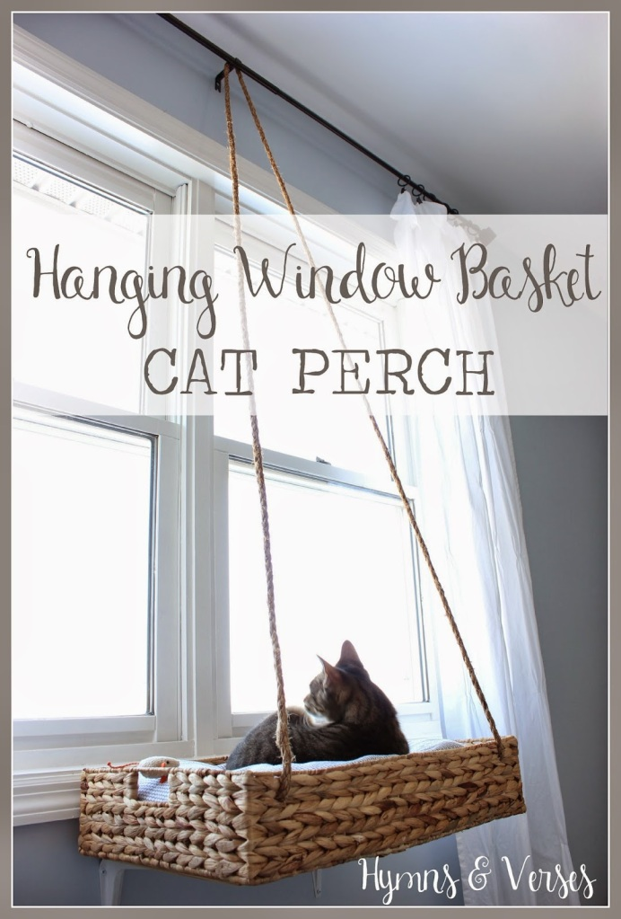 Hanging Window Basket Cat Perch